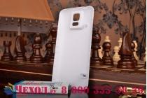 Усиленная батарея-аккумулятор большой ёмкости 7400mah для телефона Samsung Galaxy S5 /S5 Duos SM-G900H/G900FD + задняя крышка белая+ гарантия