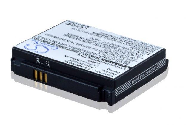 Усиленная батарея-аккумулятор большой повышенной ёмкости 1800mAh для телефона Samsung SGH-i900 WiTu (Omnia) + задняя крышка в комплекте черная + гарантия