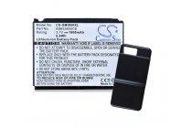 Усиленная батарея-аккумулятор большой ёмкости 1800mAh для телефона Samsung SGH-i900 WiTu (Omnia) + задняя крышка в комплекте черная + гарантия