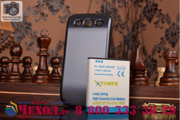 Усиленная батарея-аккумулятор большой повышенной ёмкости 6400mah для телефона Samsung Galaxy S3 GT-I9300/Duos GT-I9300i / S3 Neo i9301 + задняя крышка черная + гарантия