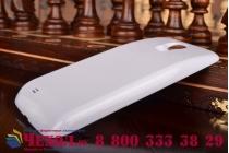 Усиленная батарея-аккумулятор большой ёмкости 5800mah для телефона Samsung Galaxy S4 / S4 LTE/ S4 Value GT-i9500/i9505/i9506/i9515 / Active GT-I9295 + задняя крышка белая+ гарантия