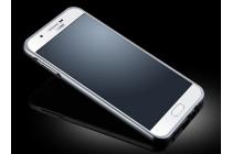Фирменная металлическая задняя панель-крышка-накладка из тончайшего облегченного авиационного алюминия для Samsung Galaxy A8 SM-A800F/DS/Dual Sim/Duos  серебряная