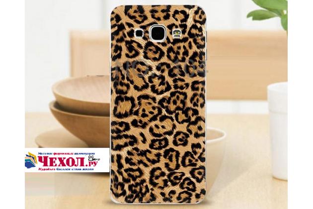 """Фирменная необычная из легчайшего и тончайшего пластика задняя панель-чехол-накладка для Samsung Galaxy A8 SM-A800F/DS/Dual Sim/Duos  """"тематика Леопард"""""""