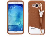 """Фирменная необычная уникальная полимерная мягкая задняя панель-чехол-накладка для Samsung Galaxy A8 SM-A800F/DS/Dual Sim/Duos  """"тематика Андроид в тёмном Шоколаде"""""""