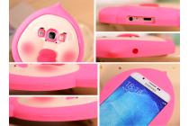 """Фирменная задняя панель-чехол-накладка с объёмным 3D изображением для Samsung Galaxy A8 SM-A800F/DS/Dual Sim/Duos  """"тематика  Малыш"""" желтая"""