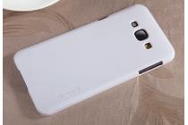 Фирменная задняя панель-крышка-накладка из тончайшего и прочного пластика для Samsung Galaxy A8 SM-A800F/DS/Dual Sim/Duos  белая