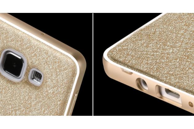"""Фирменная золотая водоотталкивающая металлическая задняя панель-крышка-накладка из тончайшего облегченного авиационного алюминия для Samsung Galaxy A8 SM-A800F/DS/Dual Sim/Duos  с объёмным 3D рисунком """"тематика Золото Лепрекона"""""""