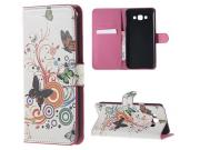 Фирменный уникальный необычный чехол-книжка для Samsung Galaxy A8 SM-A800F/DS/Dual Sim/Duos