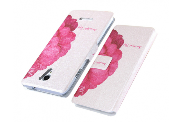 """Фирменный уникальный необычный чехол-книжка для Samsung Galaxy A3 """"тематика Алый цветок"""""""