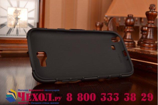 Противоударный усиленный ударопрочный фирменный чехол-бампер-пенал для Samsung Galaxy Note 2 GT-N7100 черный