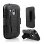 Противоударный усиленный ударопрочный фирменный чехол-бампер-пенал для Samsung Galaxy S3 Mini GT-i8190 черный..