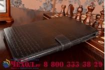 Фирменный уникальный чехол с мульти-подставкой дизайнерским почерком ручной работы для Samsung Galaxy Note 10.1 2014 SM-P6000/P6050/LTE P607 из качественной импортной кожи  черный производство Вьетнам