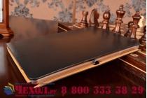 Фирменный умный Smart-чехол с функцией засыпания бизнес класса ручной работы для Samsung Galaxy Note 10.1 2014 SM-P6000/P6050/LTE P607 с визитницей из качественной импортной кожи  черный производство Вьетнам