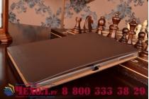 Фирменный умный Smart-чехол с функцией засыпания с расписным узором ручной работы для Samsung Galaxy Note 10.1 2014 SM-P6000/P6050/LTE P607 с визитницей из качественной импортной кожи коричневый производство Вьетнам