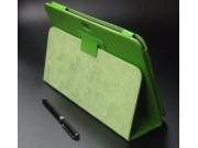 Чехол для Samsung Galaxy Note 10.1 N8000 зеленый кожаный..