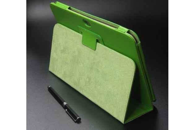 Чехол для Samsung Galaxy Note 10.1 N8000 зеленый кожаный