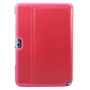 """Чехол-обложка для Samsung Galaxy Note 10.1 N8000 красный кожаный """"Deluxe"""""""