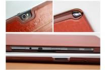 Фирменный чехол-обложка для Samsung Galaxy Note 10.1 N8000/N8010 из натуральной итальянской кожи класса премиум Винтаж коричневый