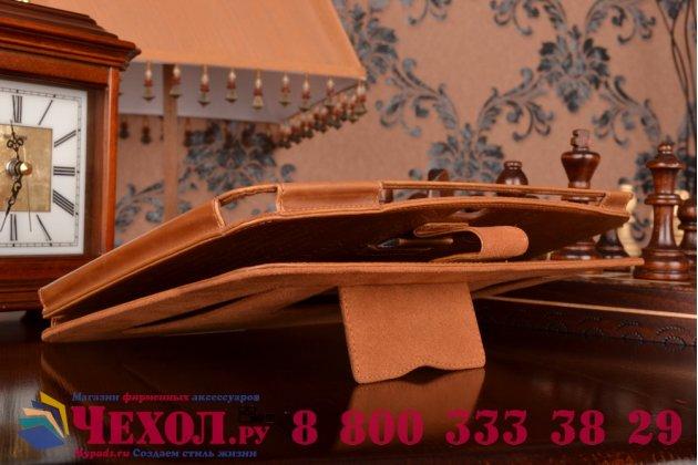 Фирменный уникальный чехол с мульти-подставкой дизайнерским почерком ручной работы для Samsung Galaxy Note 10.1 N8000/N8010 из качественной импортной кожи коричневый производство Вьетнам