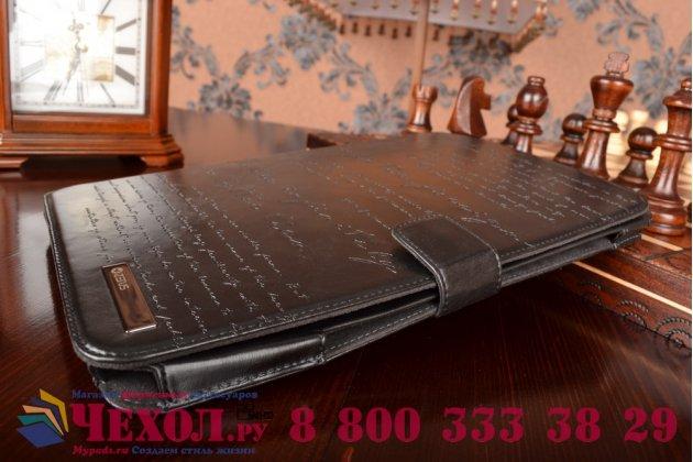 Фирменный уникальный чехол с мульти-подставкой дизайнерским почерком ручной работы для Samsung Galaxy Note 10.1 N8000/N8010 из качественной импортной кожи черный производство Вьетнам