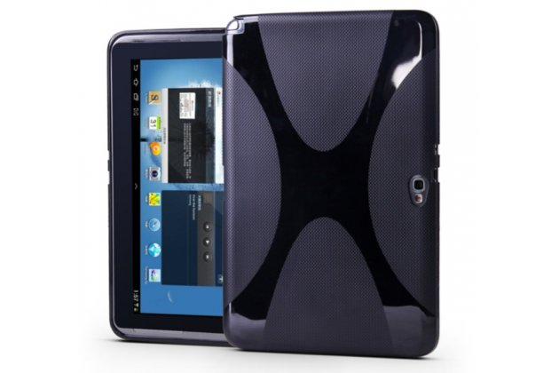 Фирменная ультра-тонкая полимерная из мягкого качественного силикона задняя панель-чехол-накладка для планшета Samsung Galaxy Note 10.1 N8000/N8010/N8020  черная