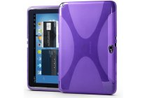 Фирменная ультра-тонкая полимерная из мягкого качественного силикона задняя панель-чехол-накладка для Samsung Galaxy Note 10.1 N8000/N8010/N8020 фиолетовая