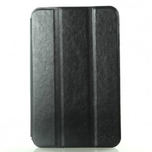 """Чехол для Samsung Galaxy Tab 2 7.0 P3100 черный кожаный """"Deluxe"""""""