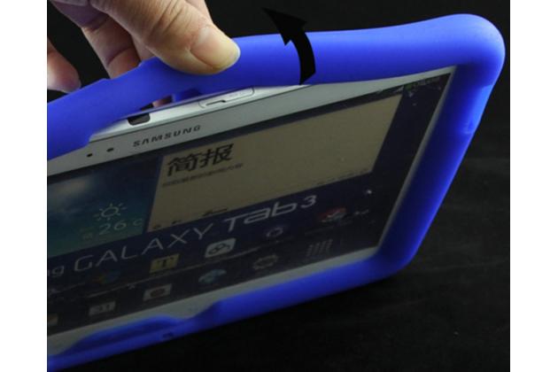 Противоударный усиленный ударопрочный фирменный чехол-бампер-пенал для Samsung Galaxy Tab 3 10.1 GT-P5200/P5210/P5220 синий