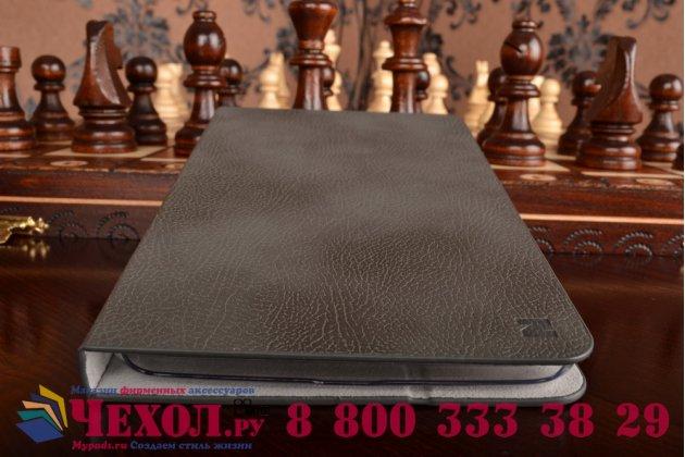 Фирменный уникальный чехол с мульти-подставкой бизнес класса ручной работы для Samsung Galaxy Tab 3 7.0 SM-T210/T211 из качественной импортной кожи серый производство Вьетнам