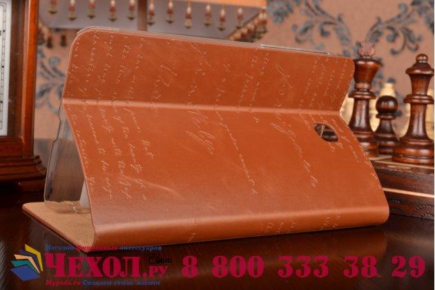 Фирменный уникальный чехол с мульти-подставкой дизайнерским почерком ручной работы для Samsung Galaxy Tab 3 7.0 SM-T210/T211 из качественной импортной кожи коричневый производство Вьетнам