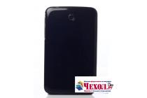 Фирменная ультра-тонкая полимерная из мягкого качественного силикона задняя панель-чехол-накладка для Samsung Galaxy Tab 3 7.0 SM-T210/T211 черная