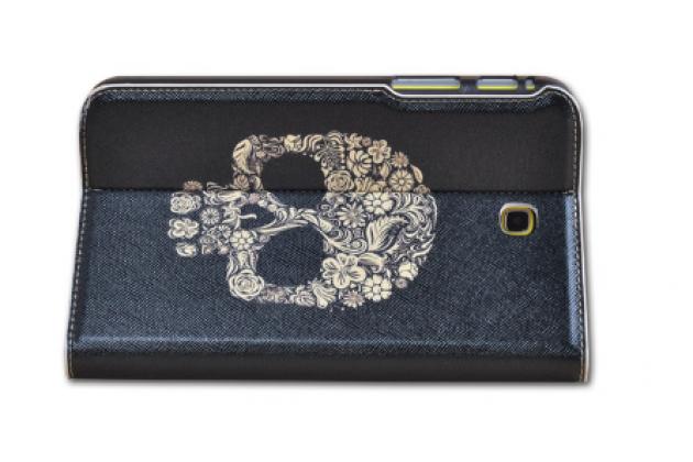 """Фирменный эксклюзивный необычный чехол-футляр для Samsung Galaxy  Tab 3 7.0 SM-T210/T211 """"тематика Череп"""""""