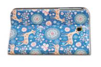 """Фирменный эксклюзивный необычный чехол-футляр для Samsung GalaxyTab 3 7.0 SM-T210/T211 """"тематика Олени в цветах"""""""