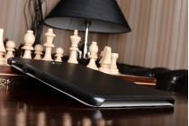 """Фирменный умный чехол самый тонкий в мире для планшета Samsung Galaxy Tab A 10.1 2016  SM-T580 / T585C / T585N """"Il Sottile"""" черный кожаный"""
