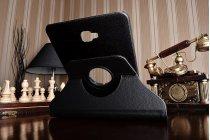 Чехол для планшета  Samsung Galaxy Tab A 10.1 2016  SM-T580 / T585C / T585N поворотный роторный оборотный черный кожаный