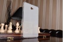 Фирменная ультра-тонкая полимерная из мягкого качественного силикона задняя панель-чехол-накладка для Samsung Galaxy Tab A 10.1 2016  SM-T580 / T585C / T585N белая