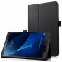 Фирменный чехол-сумка для Samsung Galaxy Tab A 10.1 2016  SM-T580 / T585C / T585N черный кожаный..