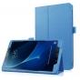 Фирменный чехол-сумка для Samsung Galaxy Tab A 10.1 2016  SM-T580 / T585C / T585N голубой кожаный..