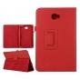 Фирменный чехол-сумка для Samsung Galaxy Tab A 10.1 2016  SM-T580 / T585C / T585N красный кожаный..