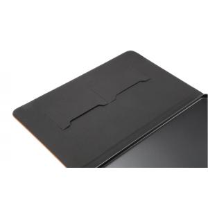 """Фирменный премиальный чехол бизнес класса для Samsung Galaxy Tab A 10.1 2016  SM-T580 / T585C / T585N"""" с визитницей из качественной импортной кожи """"Ретро"""" серый"""