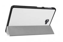 """Фирменный умный чехол самый тонкий в мире для планшета Samsung Galaxy Tab A 10.1 2016  SM-T580 / T585C / T585N """"Il Sottile"""" белый кожаный"""