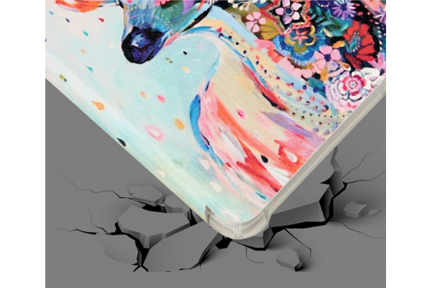 "Фирменный чехол роторный для Samsung Galaxy Tab A 8.0 SM-T350/T351/T355 ""тематика Олень"""