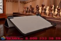 """Фирменный умный чехол самый тонкий в мире для планшета Samsung Galaxy Tab A 8.0 SM-T350/T351/T355  """"Il Sottile"""" черный кожаный"""