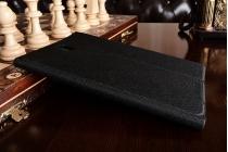 """Чехол с логотипом для Samsung Galaxy Tab A 8.0 SM-T350/T351/T355 с дизайном """"Book Cover"""" черный"""