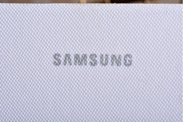 "Чехол с логотипом для Samsung Galaxy Tab A 8.0 SM-T350/T351/T355 с дизайном ""Book Cover"" белый"