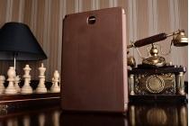 Фирменный оригинальный чехол с логотипом для Samsung Galaxy Tab A 8.0 SM-T350/T351/T355 Simple Cover коричневый