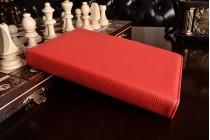 Фирменный оригинальный чехол со съёмной Bluetooth-клавиатурой для Samsung Galaxy Tab A 8.0 SM-T350/T351/T355 красный кожаный + гарантия