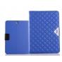 Чехол-обложка для Samsung Galaxy Tab A 9.7 SM-T550/T555 синий стеганный в ромбик..