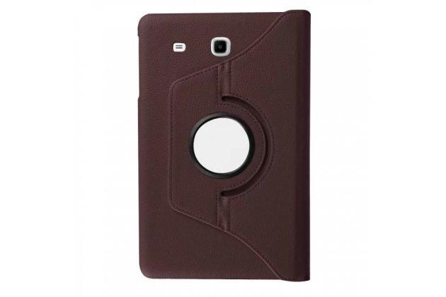 Чехол для планшета Samsung Galaxy Tab E 9.6 SM-T560N/T561N/T565N поворотный роторный оборотный коричневый кожаный