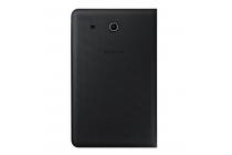 "Чехол с логотипом для Samsung Galaxy Tab E 9.6 SM-T560N/T561N/T565N с дизайном ""Book Cover"" черный"